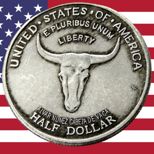1935 Spanish Trail Half Dollar Silver Coin - SculpturalArt