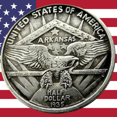1936 Arkansas Half Dollar Silver Coin - SculpturalArt