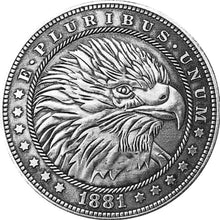 Load image into Gallery viewer, 1881 The American Eagle Silver Coin - SculpturalArt