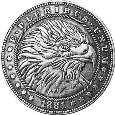 1881 The American Eagle Silver Coin - SculpturalArt