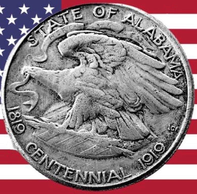 1921 Alabama Half Dollar Silver Coin - SculpturalArt