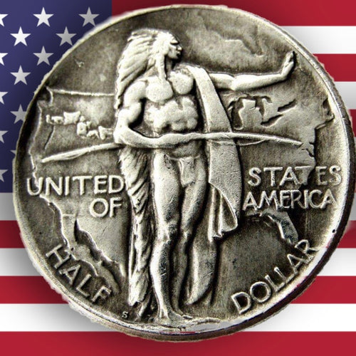 1926 Oregon Trail Memorial Half Dollar Silver Coin - SculpturalArt