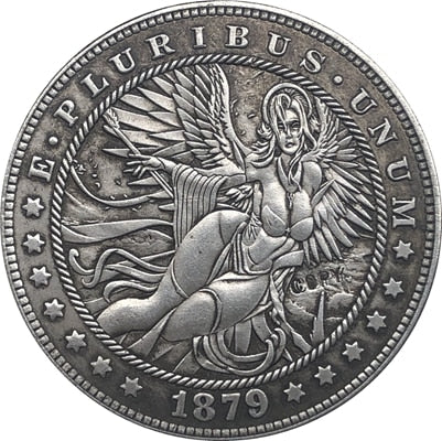 1879 The Angel Silver Coin - SculpturalArt