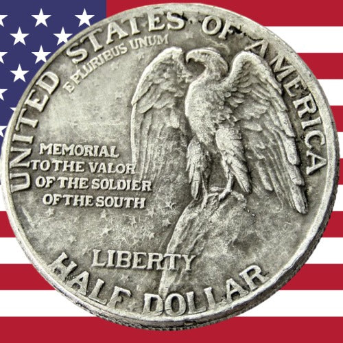 1925 Stone Mountain Eagle Half Dollar Silver Coin - SculpturalArt