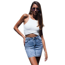 Load image into Gallery viewer, White Bandage Style Spaghetti Strap Crop Top