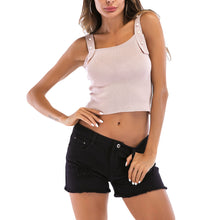 Load image into Gallery viewer, Pink Decorative Strap Tank Top Crop Top