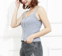 Load image into Gallery viewer, Ribbed Button Tank Top in 5 Colors