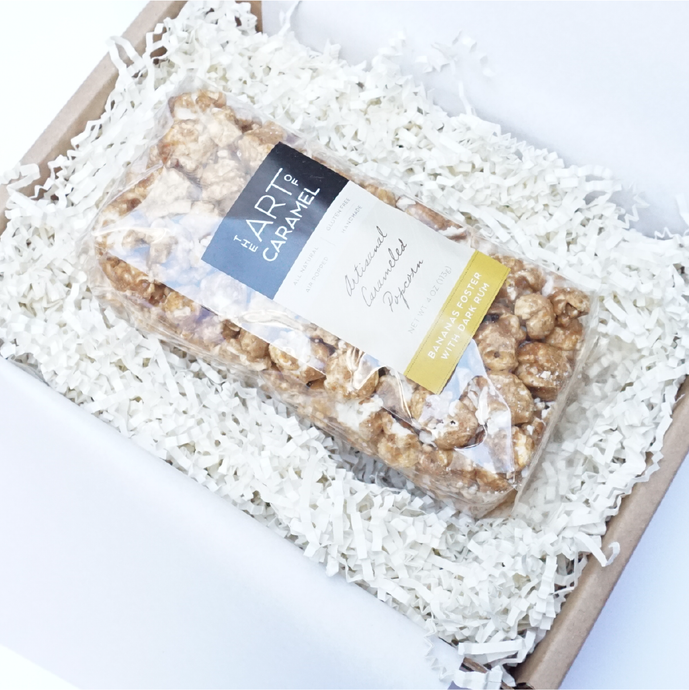 Gourmet Bananas Foster Rum Popcorn Corporate Gift Box