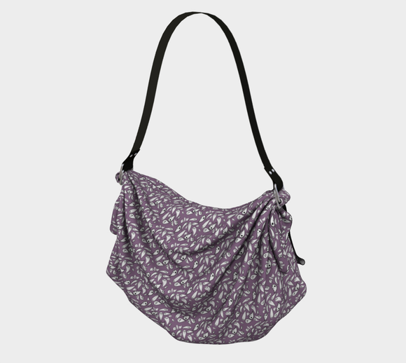 Lavender ghosts origami tote