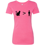 Cats > People Ladies' Triblend T-Shirt S-2XL