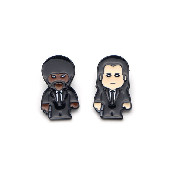 P2291 pulp fiction Pin Brooches Hard enamel pin Badges Pinback Brooches for men women