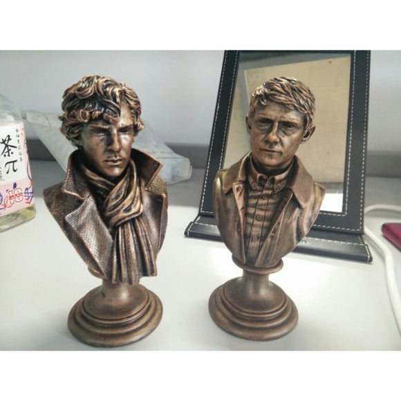Set Of Two Sherlock Holmes & Watson. Limited Edition Mini Resin Bust figures 6
