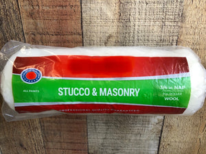 "9"" X 3/4"" Wool Roller Cover for Stucco/Masonry *Brand Name*"