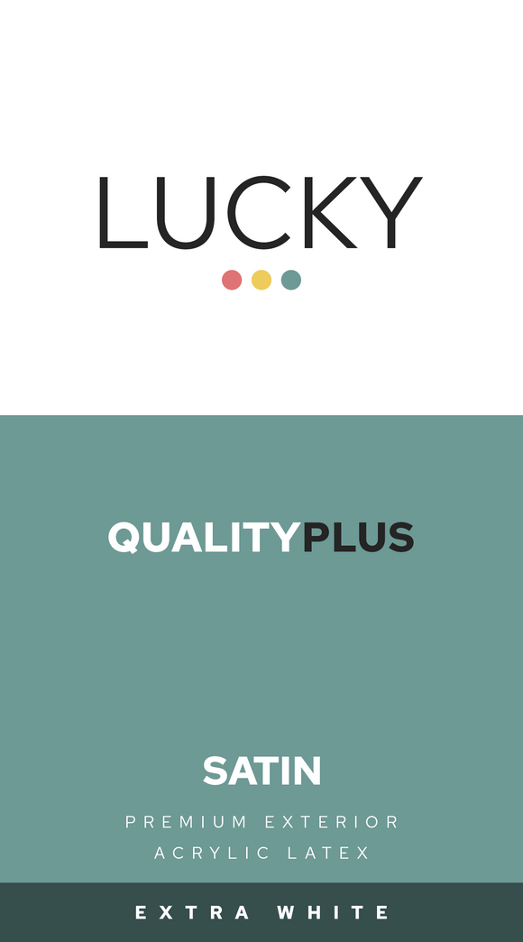 LUCKY QUALITYPLUS EXTERIOR SATIN WHITE 1-GALLON