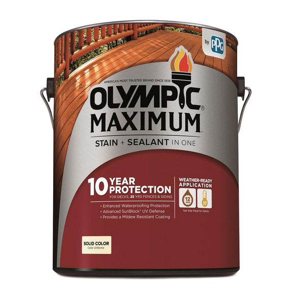 Olympic Maximum Stain + Sealant Solid Color Stain 1-Gallon
