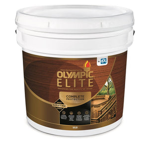 Olympic Elite Advanced Stain + Sealant in One Solid Color White 3-Gallon Bucket