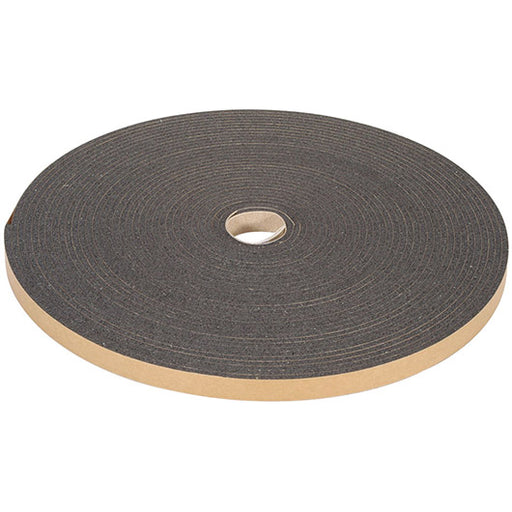 "1/8"" Thick Polyester Urethane Foam Strip, 1/2"" Width x 100' Length, Charcoal"