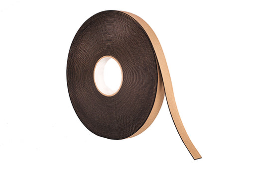 "1/4"" Thick Neoprene Foam Strip, 3/4"" Width x 50' Length, Black, Rubber Adhesive"