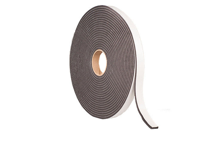 "3/8"" Thick Neoprene Foam, 3/4"" Width X 25' Length, Low Density, Rubber Adhesive"