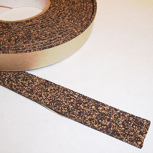 "1/8"" Thick Cork Rubber Tape, 1"" Width x 50' Length, Acrylic Adhesive"