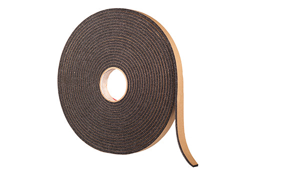 "1/8"" Thick Polyester Urethane Foam Strip, 1"" Width x 100' Length, Charcoal"