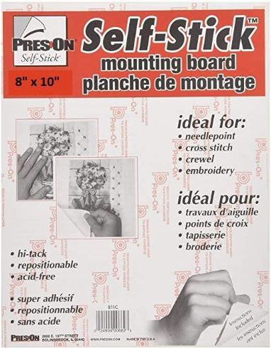 "Pres-On 8"" x 10"" Mounting Board Self-Stick"
