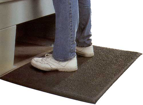"Anti-Fatigue Comfort Mat, Black, 17"" x 22"""