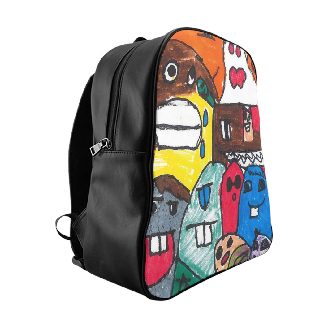 Backpack - Bright and Crazy Monster School Backpack