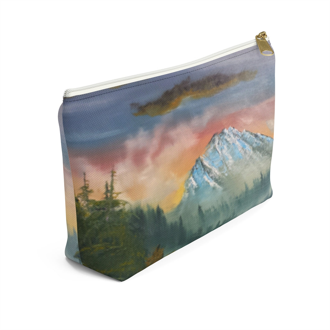 Pouch - Mt Rainier at Sunrise Accessory Pouch w T-bottom