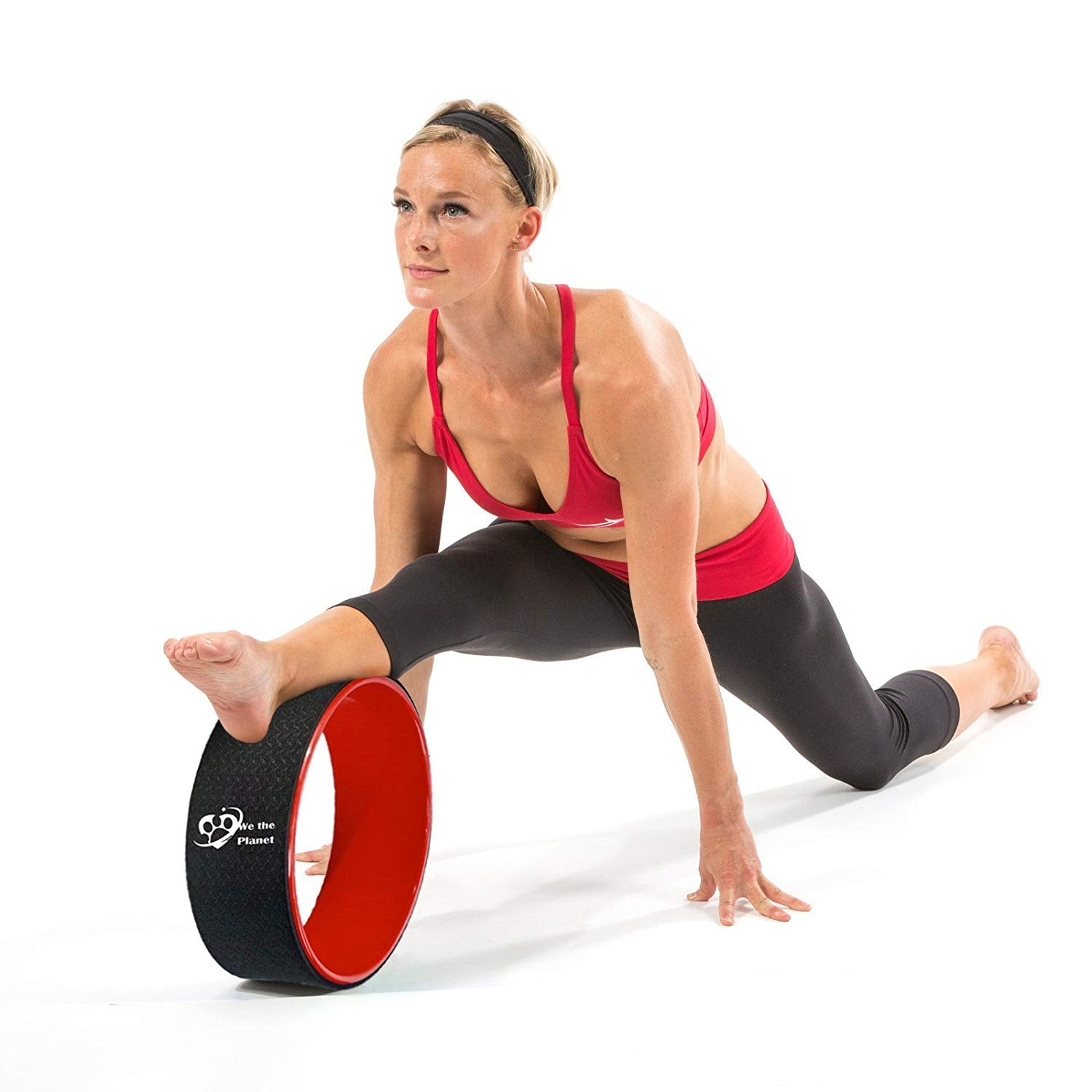 Eco-Friendly Dharma//Back Stretcher Wheel Prop Roller Wheel Improves Backbends and Technique We The Planet Premium Yoga Wheel