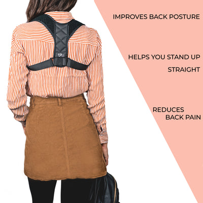 Posture Corrector Back Brace Peanutball For Men & Women - Great support for upper back, Pain relief from back, shoulder, neck