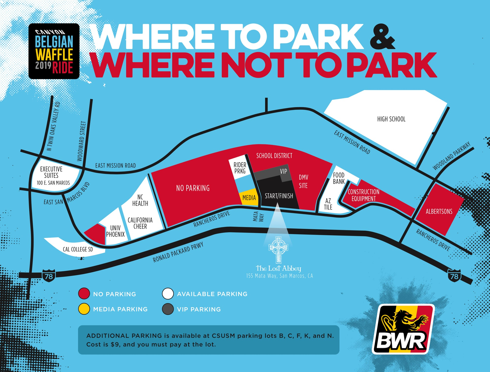 2019 Parking Map
