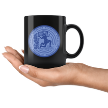 Load image into Gallery viewer, Aquarius Birthday Astrology Zodiac Birth Signs Coffee Mug Black - Hundredth Monkey Tees