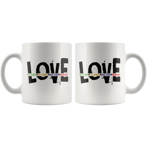 Love Yourself Coffee Mug Love Plants Animals Each Other Revolution - Hundredth Monkey Tees