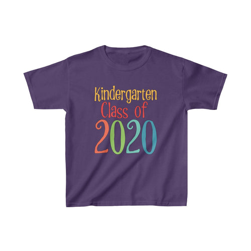Youth Shirt Kindergarten Class of 2020 Graduation Boys Girls Grade School Kids - Hundredth Monkey Tees