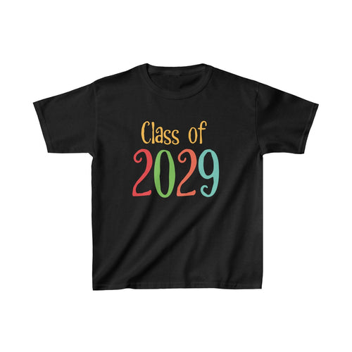 Youth Shirt Class of 2029 Graduation Boys Girls Grade School Kids - Hundredth Monkey Tees