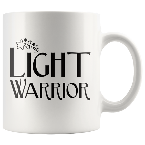 Light Warrior Coffee Mug Evolution Ascension Awakening Starseed Gift - Hundredth Monkey Tees