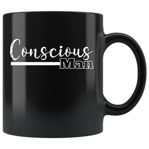 Conscious Man Coffee Mug Spiritual Path Divine Masculine Journey - Hundredth Monkey Tees