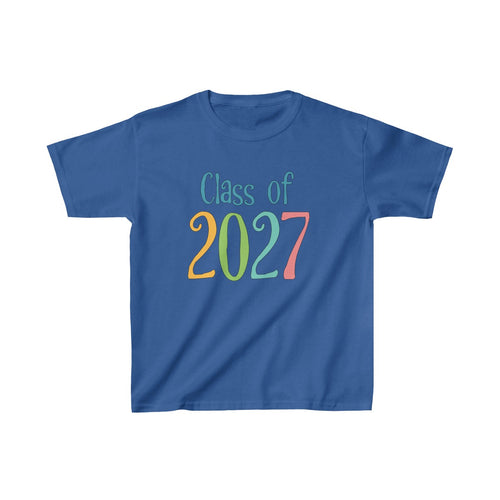 Youth Shirt Class of 2027 Graduation Boys Girls Grade School Kids - Hundredth Monkey Tees