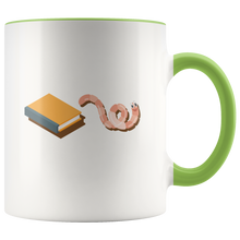 Load image into Gallery viewer, Funny Bookworm Coffee Mug for Those Who Love Reading Books - Hundredth Monkey Tees