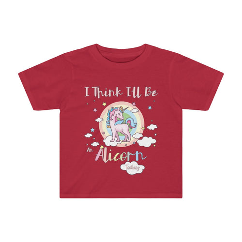 Toddler Cute Alicorn T-shirt I Think I'll Be an Alicorn Today Girls Boys - Hundredth Monkey Tees