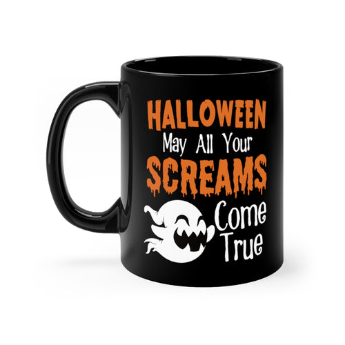 Cute Halloween Ghost May All Your Screams Come True Coffee Mug - Hundredth Monkey Tees