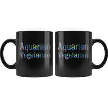 Load image into Gallery viewer, Aquarian Vegetarian Coffee Mug Aquarius Statement Gift Sign Lifestyle - Hundredth Monkey Tees