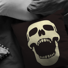 Load image into Gallery viewer, Laughing Skull Throw Pillow Skeleton Halloween Cool Art Cover