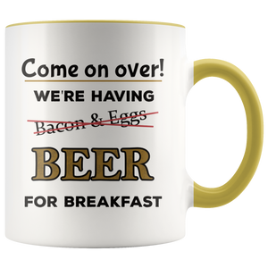 Funny Beer For Breakfast Coffee Mug for Morning Drinkers - Hundredth Monkey Tees