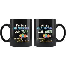 Load image into Gallery viewer, Funny Yarn Knitters Crochet Crafters Coffee Mug Committed Relationship Pun - Hundredth Monkey Tees