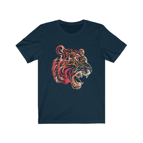 Tribal Tiger T-shirt Tattoo Style Big Cat Mascot Jersey Short Sleeve Tee