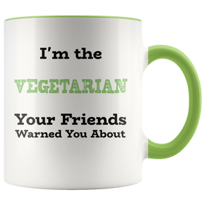 Funny Vegetarian Humor Coffee Mug Joke Saying Gift - Hundredth Monkey Tees