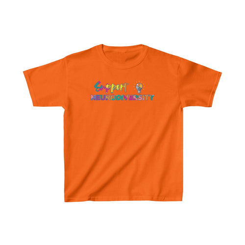 Youth Support Neurodiversity Shirt Autism ADHD Awareness T shirt Kids Heavy Cotton Tee