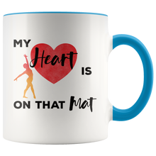 Load image into Gallery viewer, Gymnastics Mom Coffee Mug Gift My Heart is on that Mat - Hundredth Monkey Tees